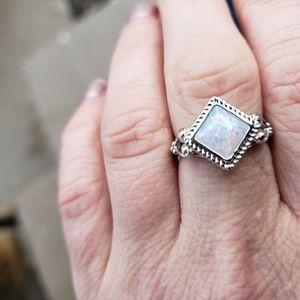 Jewelry - Fire Opal Sterling Silver Ring size 6